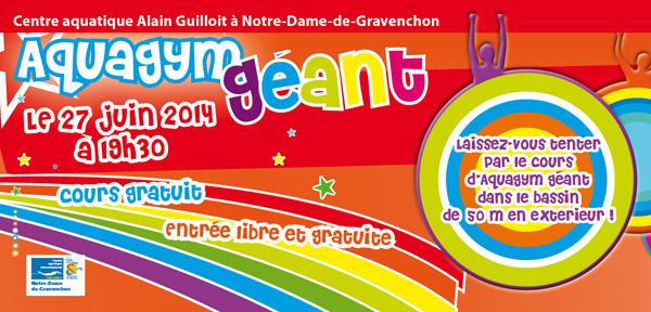 Aquagym g ant le 27 juin au centre aquatique de notre dame for Piscine gravenchon