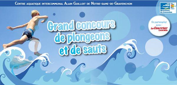 Concours de plongeons et de sauts le 23 juillet for Piscine gravenchon