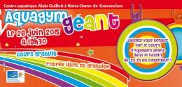 Aquagym géant au centre aquatique de ND-de-Gravenchon le 26 juin 2015 à 19h30
