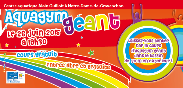 Aquagym g ant gratuit le 26 juin 2015 19h30 au centre for Piscine gravenchon